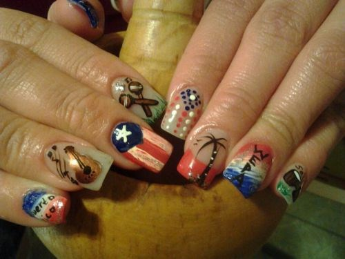Day 196 puerto rican pride nail art nails magazine prinsesfo Gallery