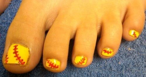 Day 210 baseball toes nail art nails magazine heather bitter mainly for you day spa hoisington ks prinsesfo Images