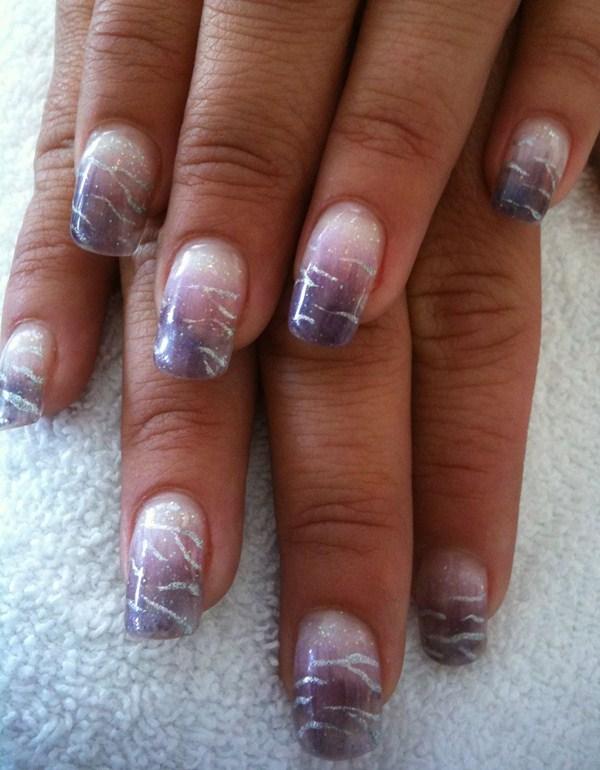 Day 241: Glitter Fade Nail Art - - NAILS Magazine