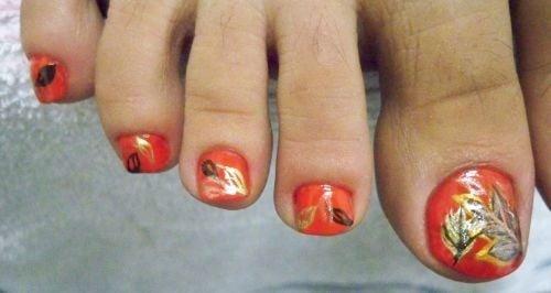 Day 265 fall leaves toenail art nails magazine prinsesfo Images