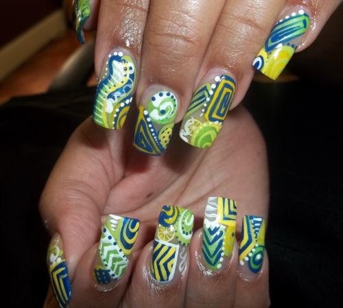 Day 281 abstract citrus nail art nails magazine latonya brown azia bs salon raleigh nc prinsesfo Gallery