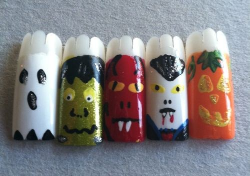 Day 303 assorted halloween nail art nails magazine for 365 salon success