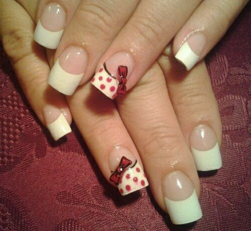 Day 309 French Bows Nail Art Nails Magazine
