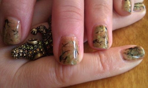 Day 319 Enchanted Forest Nail Art Nails Magazine