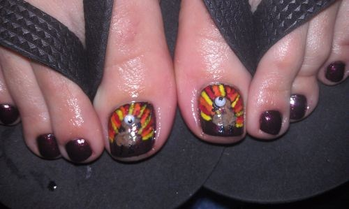 Day 328 Turkey Toes Nail Art Nails Magazine