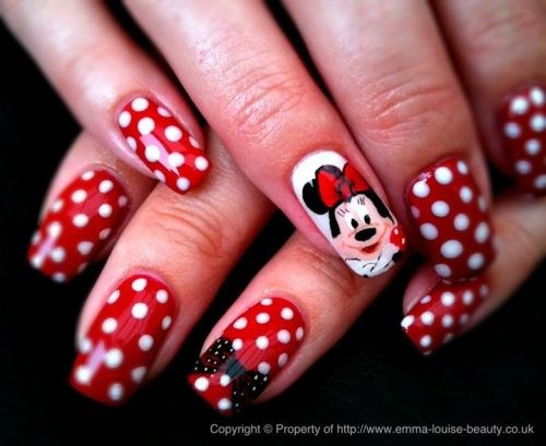 Emma Louise Ogden (Clacton on Sea, Essex, UK) - Day 338: Minnie Mouse Nail Art - - NAILS Magazine
