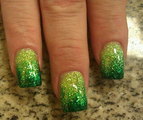 Day 69 Green Glitter Fade Nail Art Nails Magazine