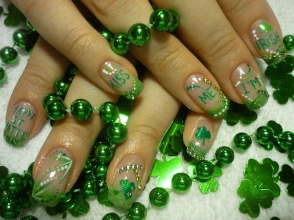 Jennifer Giovannetti, Nails by Jen (Regina, Saskatchewan, Canada) - Day 76: Kiss Me I'm Irish Nail Art - - NAILS Magazine