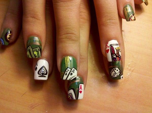 casino nail art