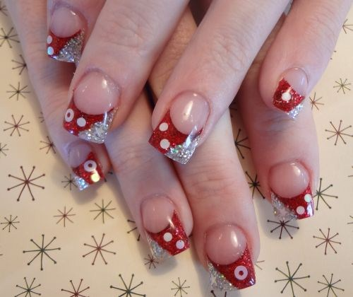 Day 338 red and silver holiday nail art nails magazine denise groves melaties day spa grantsville prinsesfo Image collections