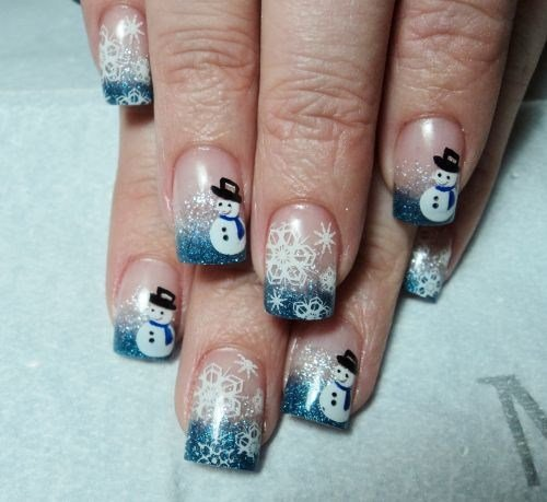 - Day 348: Frosty The Snowman Nail Art - - NAILS Magazine
