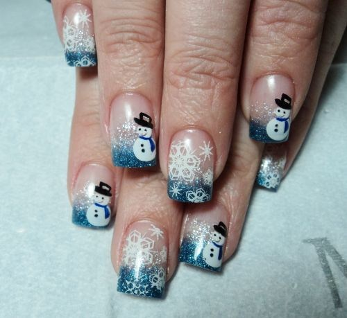 Day 348 Frosty The Snowman Nail Art Nails Magazine