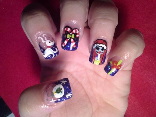 - Day 353: Nightmare Before Christmas Nail Art - - NAILS Magazine