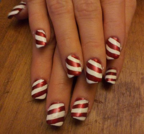 Day 355 candy cane nail art nails magazine prinsesfo Choice Image