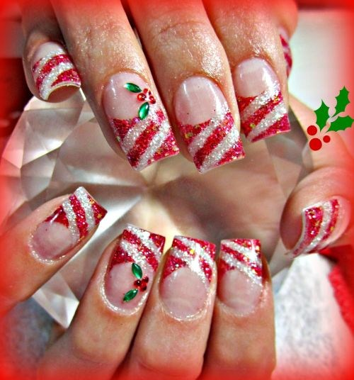 Day 355 candy cane nail art nails magazine stephanie mercer stephanie does nails duncan bc prinsesfo Choice Image