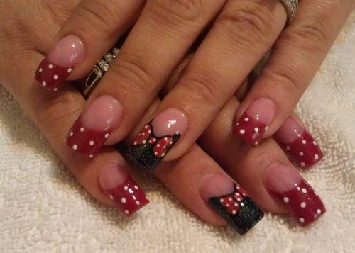 Lorri Silvestre, Nail Designs by Lorri, Grover Beach, Calif. - Day 320: Minnie Bows And Dots Nail Art - - NAILS Magazine