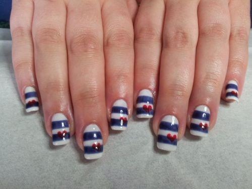 Day 123 Nautical Stripes Nail Art Nails Magazine