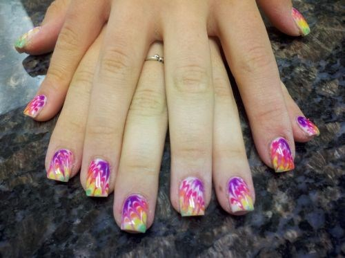 - Day 128: Marbleized Tie Dye Nail Art - - NAILS Magazine