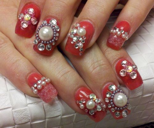 Day 16 diamonds and pearls nail art nails magazine nancy cox the nail smith san diego prinsesfo Images