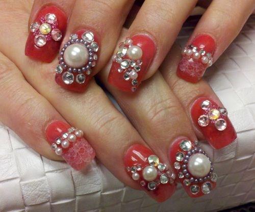Day 16 Diamonds And Pearls Nail Art Nails Magazine