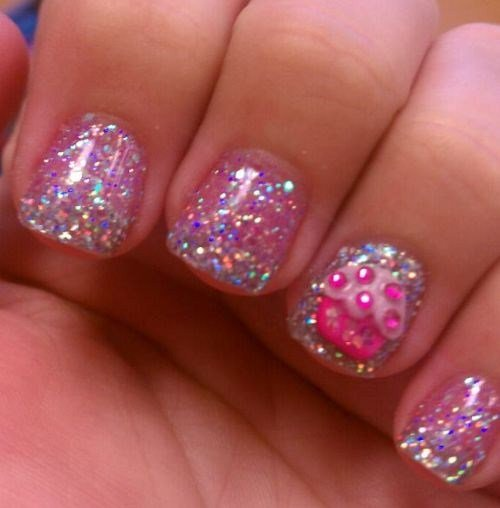 Day 17 glitter cupcake nail art nails magazine jenifer castrovinci profiles salon fort myers prinsesfo Choice Image
