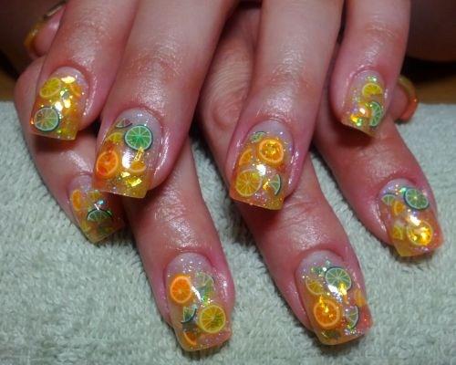Day 190 Citrus Fimo Nail Art Nails Magazine