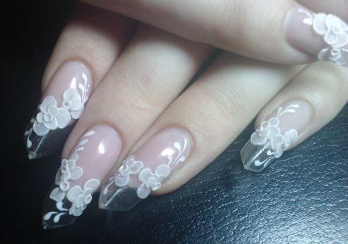 Day 23 Delicate White Floral Nail Art Nails Magazine