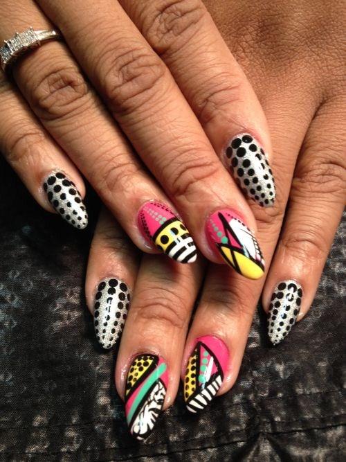 Day 257 abstract dots and lines nail art nails magazine sabrina watts golden lady nail cleveland prinsesfo Image collections