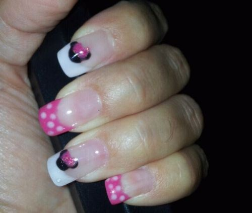 Day 258 Minnie Mouse Nail Art Nails Magazine
