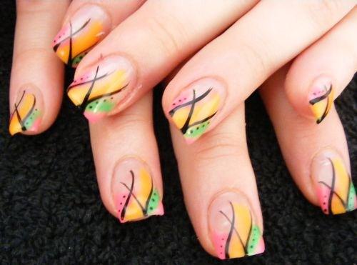 Day 27 Abstract Gel Color Nail Nail Art Nails Magazine