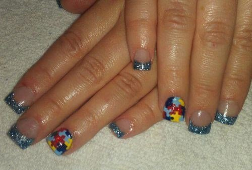 Day 274 autism awareness nail art nails magazine stefanie abila nails by stefanie hill afb prinsesfo Choice Image