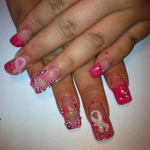 Day 275 breast cancer awareness nail art nails magazine rosa vargas palm springs prinsesfo Images