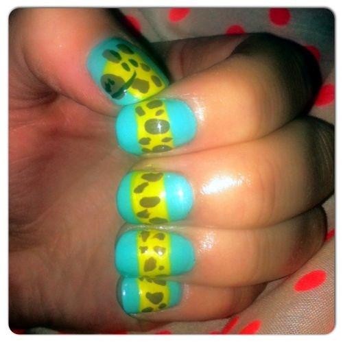 Day 279 Giraffe Nail Art Nails Magazine