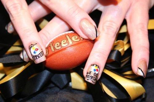 Day 288: Steelers Nail Art - - NAILS Magazine