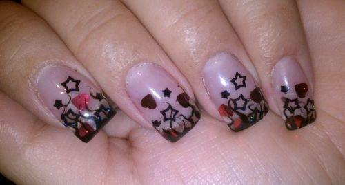 Day 295 Confetti Stars And Hearts Nail Art Nails Magazine