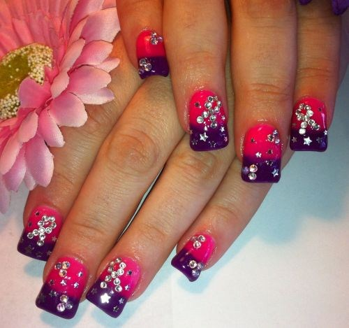 Day 297 breast cancer awareness nail art nails magazine amanda lenher posare salon las vegas prinsesfo Images