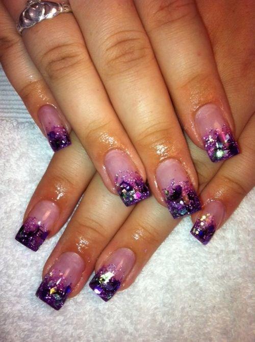 Day 54: Glitter French Nail Art - - NAILS Magazine