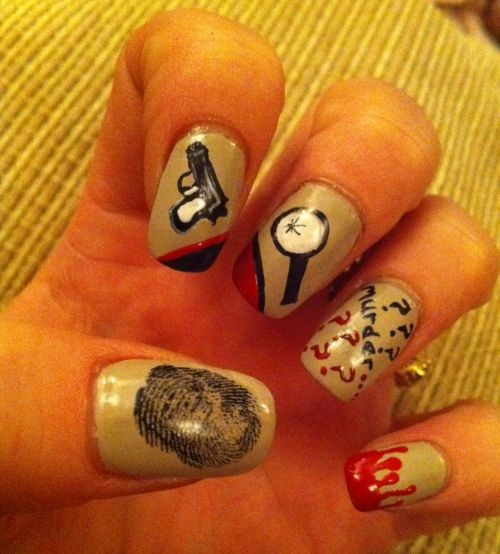 Day 71 murder mystery nail art nails magazine laura mccarthy bantry co cork ireland prinsesfo Gallery
