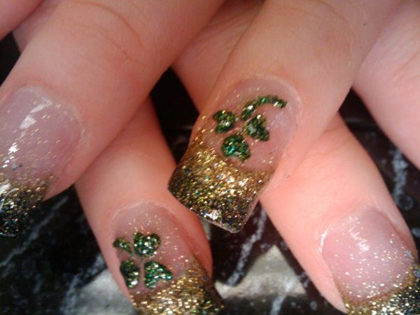Lacy Hood, En Wrapture Salon, Post Falls, ... - Day 76: Assorted Luck Of The Irish Nail Art - - NAILS Magazine