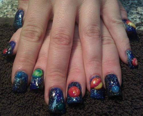 Day 79 solar system nail art nails magazine lacy hood salon en wrapture post falls prinsesfo Gallery