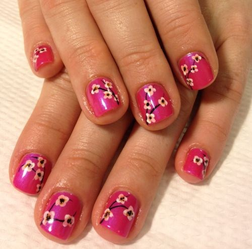 Day 87 cherry blossom nail art nails magazine cecilia bustamante okinawa japan prinsesfo Gallery