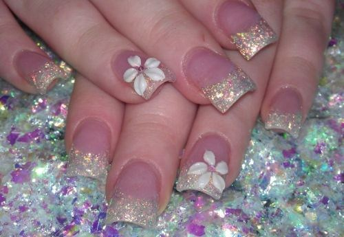 Winter Flower Nail Design : Day winter flowers nail art nails magazine