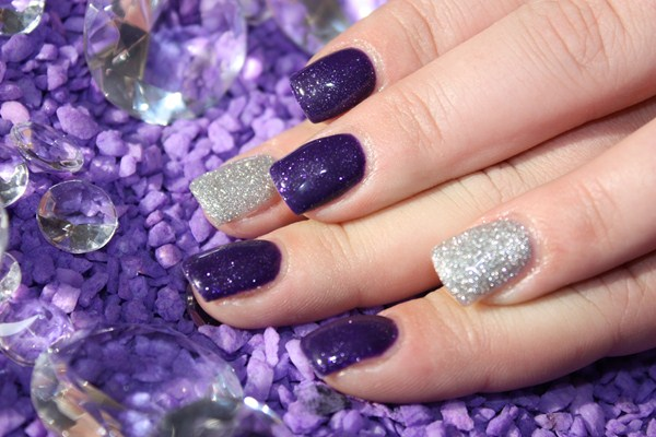 Day 3 purple silver nail art nails magazine christina mcneil free edge nails waxing redcliff alberta canada prinsesfo Gallery