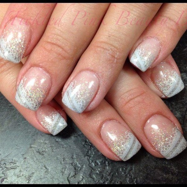 Day 4: White Lace Nail Art - - NAILS Magazine