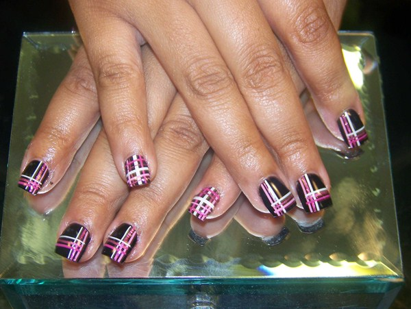 Nice Nail Polish To Wear With Red Dress Tiny Shades Of Purple Nail Polish Solid Cutest Nail Art How To Start My Own Nail Polish Line Young Foot Nails Fungus DarkWhere To Buy Opi Gelcolor Nail Polish Day 235: Plaid Nail Art     NAILS Magazine