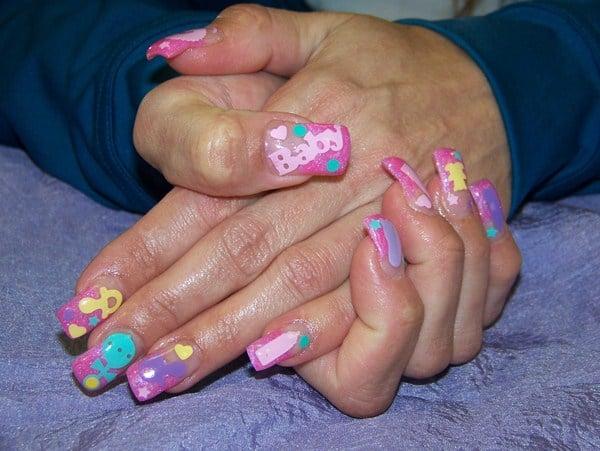 Day 146 Baby Shower Nail Art Nails Magazine