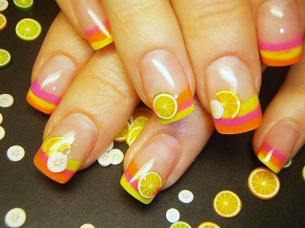 Day 167 citrus french fimo nail art nails magazine prinsesfo Gallery