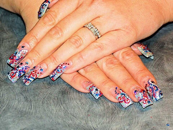Day 184 fourth of july abstract nail art nails magazine colleen ramsey cr nails safford az prinsesfo Images