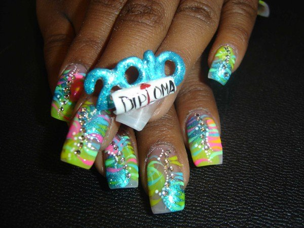 Day 224 Graduation Day Nail Art Nails Magazine