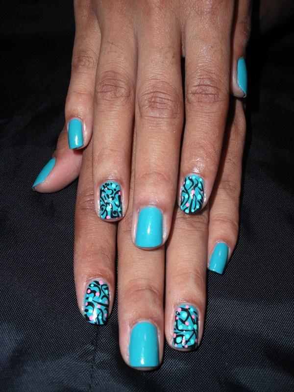 Day 225 Swirls And Dots Nail Art Nails Magazine